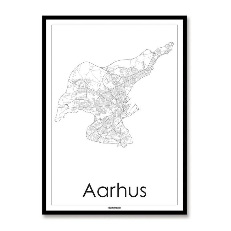 Kort Over Aarhus Smukt Rosendahl Kort Over Aarhus