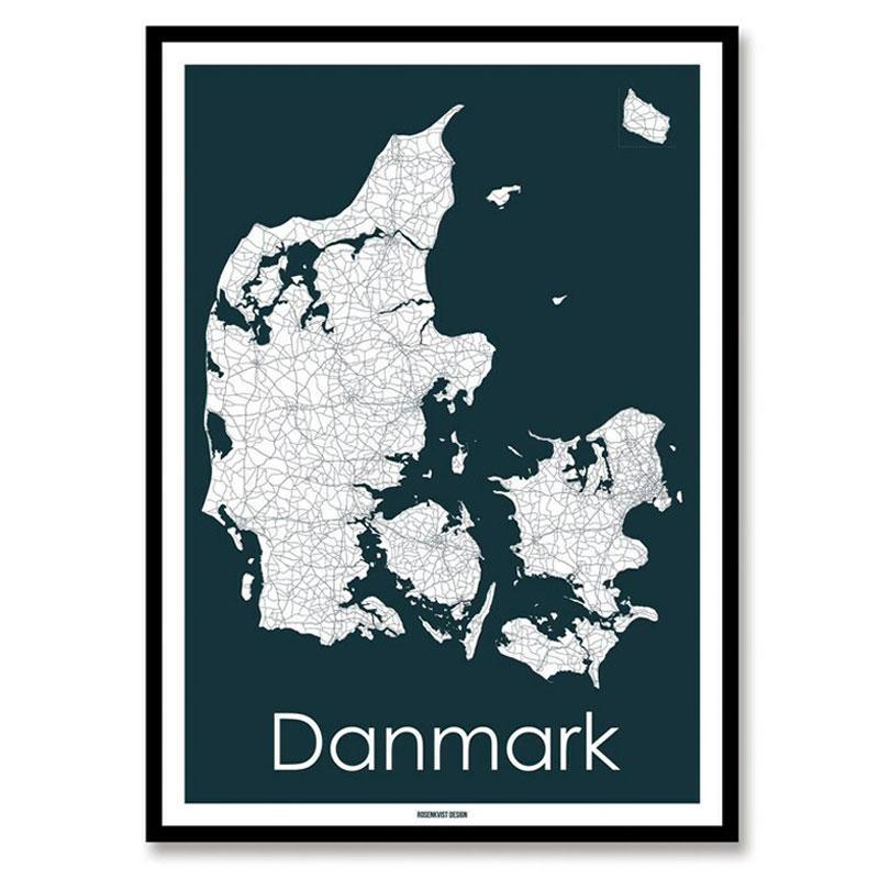 Danmarkskort Rosenkvist Design