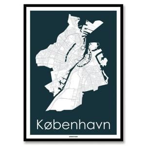 kort over København