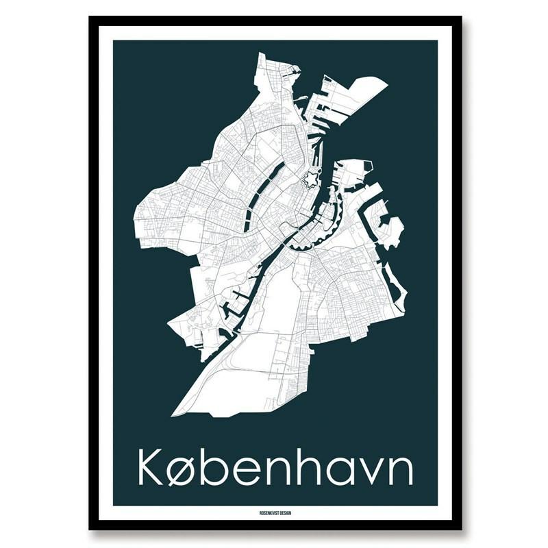 Kort Over Kobenhavn Smuk Plakat Med Kort Over Kobenhavn