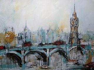 London Westminster akryl maleri
