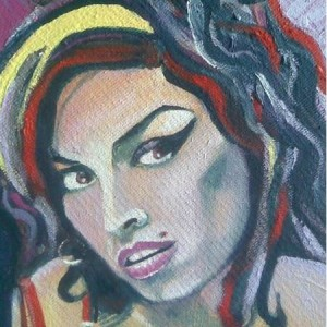 Amy Winehouse maleri - akryl
