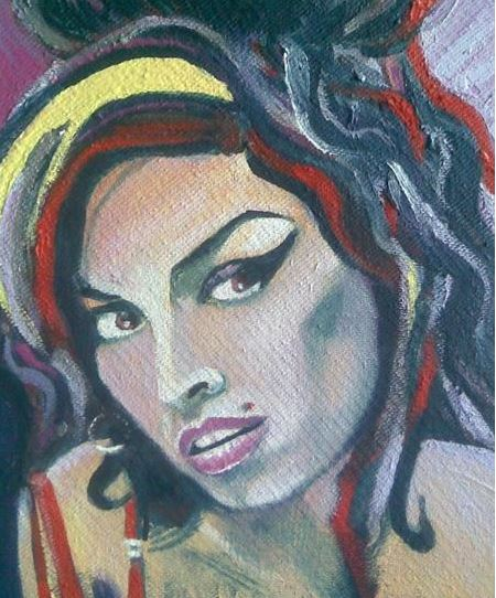 Amy Winehouse maleri - akryl