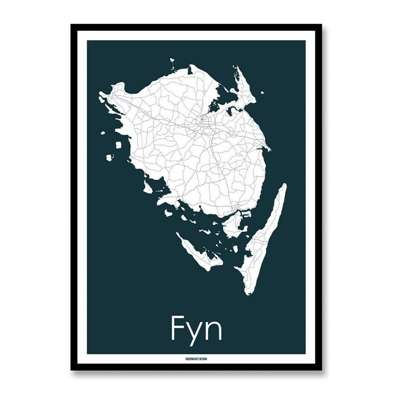 Kort over Fyn